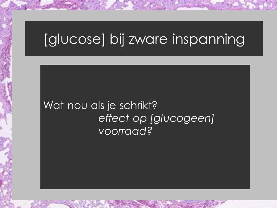 [glucose] bij zware inspanning